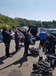 Getting Ready for training at Stoney Cove