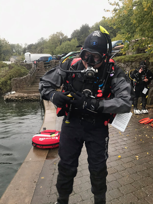 Rob getting ready for his open water teaching elements of Assistant Instructor Course